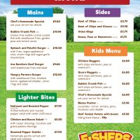 Fishers Farm Park Saddle Rooms Restaurant Menu