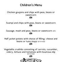 Fishers Farm Park Saddle Rooms Children's menu