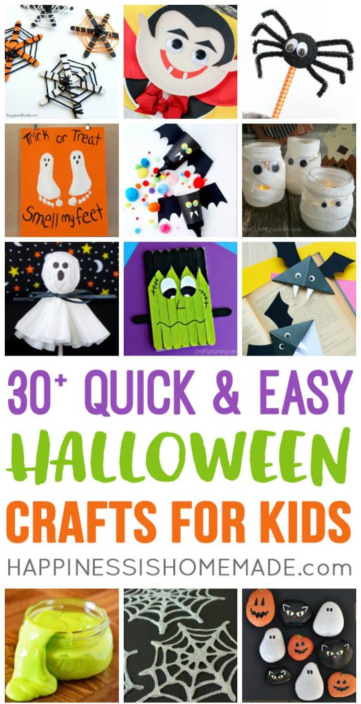 Happiness is Homemade Halloween craft ideas for kids