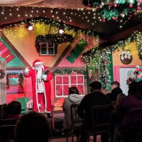 Fishers Farm Park Magical Christmas show Father Christmas on stage