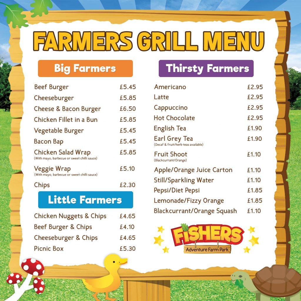 Farmers Grill Menu