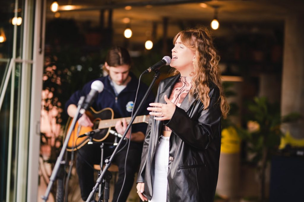 Alice Flower live singing live at Fishers Farm Park this half term